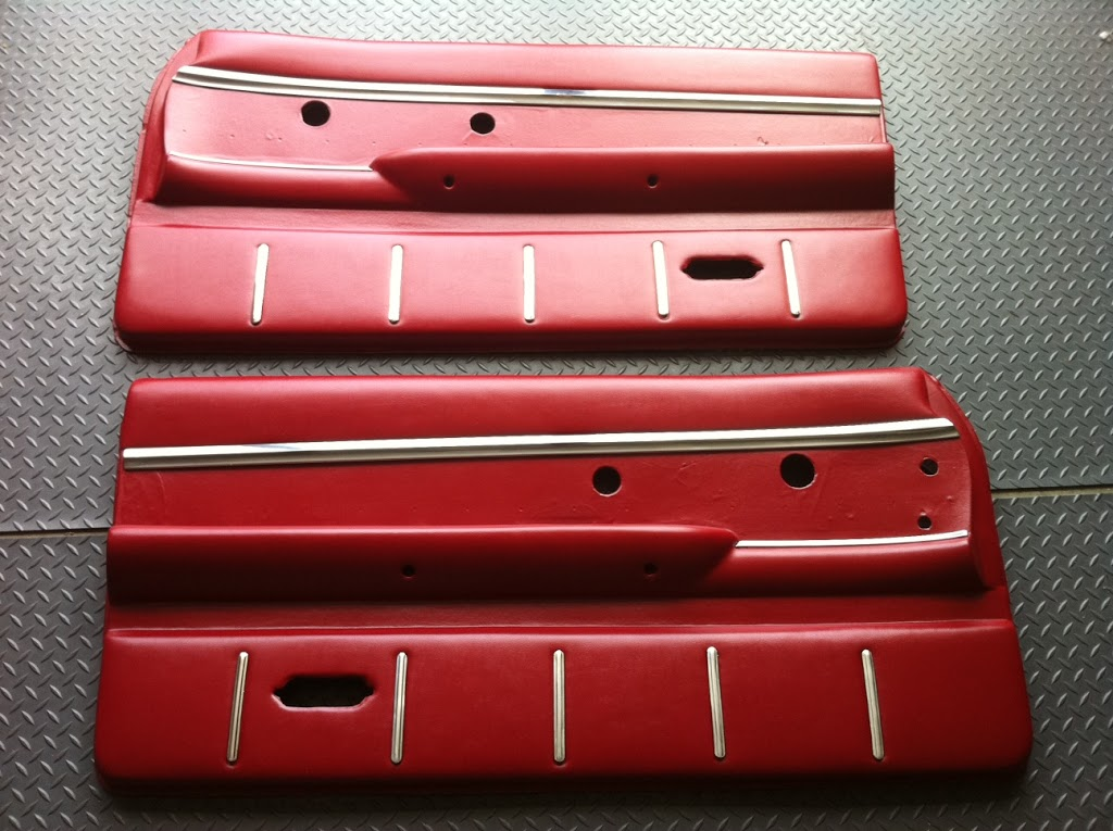 1963 Ford Thunderbird Door Panel Restoration with Chrome Trim - Just