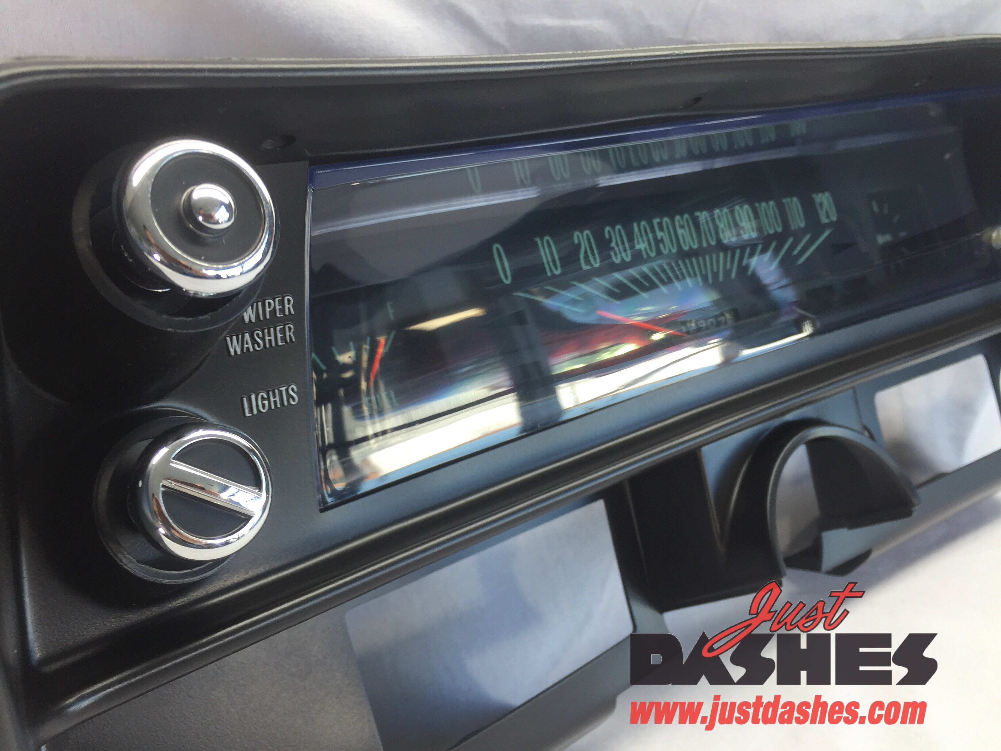 1968 Chevy Nova Instrument Cluster Just Dashes Truck Gauge Rechromed Plastic Knobs Silkscreened Artwork Polished Lens Detailed Housing